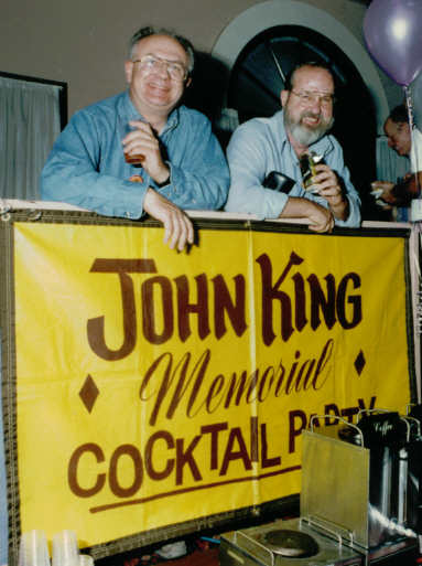Enjoying the festivities at the John King Memorial Party