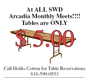 Tables at the SW Division monthly train meet are $5